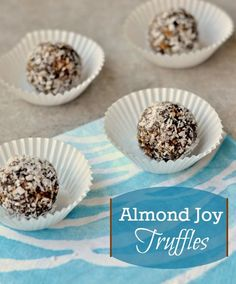 These healthy Almond Joy Truffles taste just as good as the candy. This recipe is the perfect snack if you want something healthy that tastes like dessert.