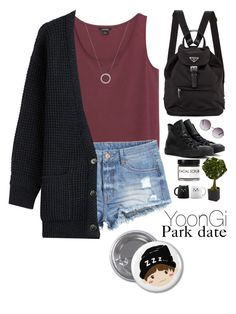 """Park date with Yoongi"" by asivol00 ❤ liked on Polyvore featuring Monki, H&M, Closed, Converse, Prada, Michael Kors, Nearly Natural, Fig+Yarrow, kpop and bts"