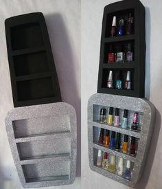 Best makeup storage bedroom nail polish ideas - Image 14 of 22 Home Nail Salon, Nail Salon Design, Nail Salon Decor, Beauty Salon Decor, Salon Interior Design, Salons Decor, Beauty Salons, Nail Polish Storage, Diy Nail Polish