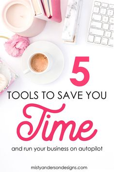 Do you ever feel overwhelmed and like you never have enough time to get everything done in your business? I felt the same until I discovered 5 very special tools that have helped me put my business on autopilot and given me more time. business tips | blogging tips | small business tips | productivity | business productivity | #smallbusinesstips #biztips #productivity #businesstools