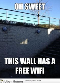 Our entire contiki group would've been squished onto this wall just to get some free wifi in Europe! Lol