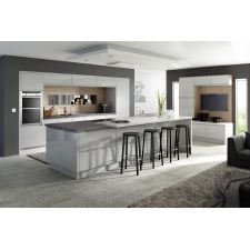 The Mackintosh Integral Gloss Light Grey kitchen comes in a modern style with a gloss finish. Browse the kitchen features and find a retailer near you. Gloss Kitchen, Grey Kitchen Cabinets, Kitchen Units, New Kitchen, Kitchen Ideas, Kitchen Grey, Kitchen Island, White Cabinets, Barn Kitchen