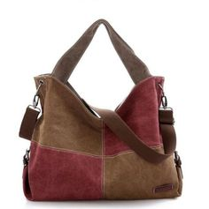 Canvas Patchwork Handbag