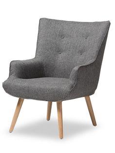 Habitat Armchair | Grey | Modern Furniture • Brickell Collection