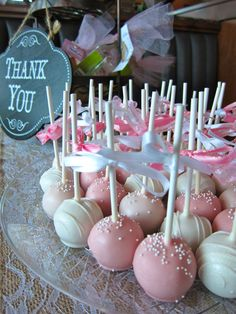 Bridal Shower cake pops.
