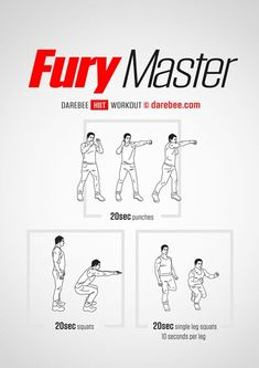 Fury Master Workout | Posted by: CustomWeightLossProgram.com