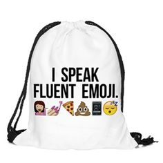 If you're fluent in emoji, you'll love this graphic drawstring backpack, perfect for daily carry, beach gear, gym clothes and more! This multi-use string back is super cute with it's high quality grap