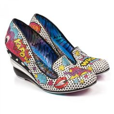 Buy Irregular Choice shoes at Atom Retro. Huge range of Irregular Choice shoes, boots, bags & Disney shoes. Irregular Choice Heels, Disney Shoes, Wow Products, Leather Heels, Shoes Online, Wedge Heels, Girls Shoes, Me Too Shoes, Boots