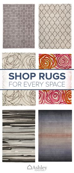 Rugs are an easy way to define a space or perk up a room while expressing your style. From large to small, Ashley HomeStore has a huge selection of rugs that are sure to be appreciated underfoot in your home. Shop the collection today.