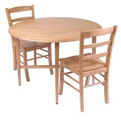 Winsome Hannah Dining Set Drop Leaf Table with 2 Ladder Back Chairs 3Piece >>> Learn more by visiting the image link.Note:It is affiliate link to Amazon.