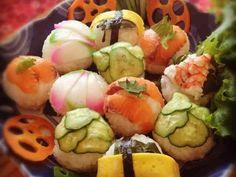 ❀パーティーやおもてなしに✿手まり寿司*の画像