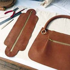 Afbeeldingsresultaat voor how to make a leather bag
