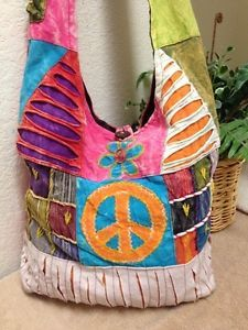 Rising International Nepal Handcrafted Patchwork Hobo Shoulder Bag Multi  Color  605e995119fc5