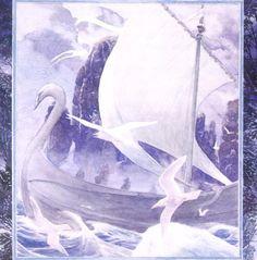 Swan ship from Dol Amroth