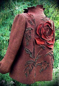 Пиджаки, жакеты ручной работы. Ярмарка Мастеров - ручная работа. Купить Жакет валяный Нестандартный размер. Handmade. Комбинированный