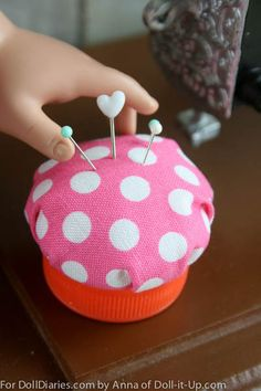 This little doll size pin cushion is easy to make!
