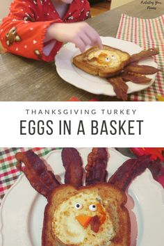 Thanksgiving Turkey Shaped Eggs In A Basket - Protecting Your Pennies