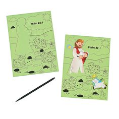 "Scratch 'N Reveal ""The Lord is My Shepherd"" Sheets - OrientalTrading.com"