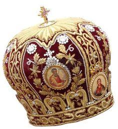 rouge à onglets - coiffures solennelle de l'évêque orthodoxe