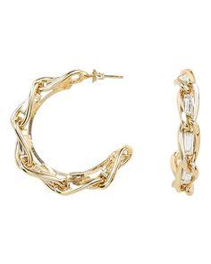 Rosantica Braided Crystal Hoops In Gold 90s Jewelry, Ear Piercings, Women Accessories, Braids, Hoop Earrings, Crystals, Bracelets, Gold, Stuff To Buy