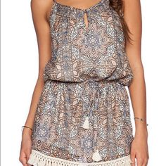 Eternal Sunshine of Creations Farah Dress (XS/S) Currently being sold on Revolve Clothing for $103 (on sale -- originally $158)   Color: Antique Peach   100% cotton   Front button closure with keyhole cut-out   Fringe trim   Drawstring Waist   Fully lined   Excellent Condition   Size: XS/S (fits 0-4) Eternal Sunshine Creations Dresses Mini