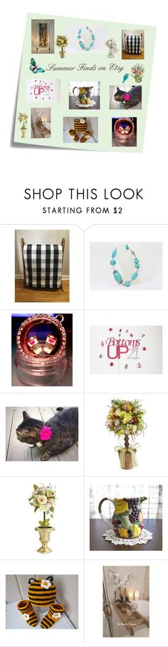 """Summer Finds on Etsy"" by afloralaffair-1 on Polyvore featuring interior, interiors, interior design, home, home decor, interior decorating, Post-It, Pier 1 Imports and vintage"