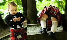 We all know what a Scotsman wears under his kilt..but what about his son..lol