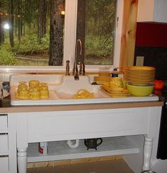 drainboard sink for laundry room  do i like the open shelving  farmhouse drainboard sink   antique  vintage farmers sink      rh   pinterest com