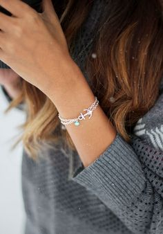 Pure Impressions Anchor Bracelet