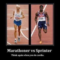 Marathonloper vs sprinter