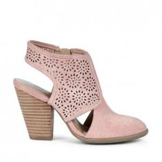 Ankle Boot, Suede, Soft Pink by lavonne
