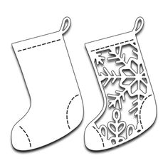 Let Christmas inspire you to create amazing, handmade crafts. The Penny Black Christmas Stockings Dies are made of thin metal, which allows you to make Black Christmas, Christmas Wood, Christmas Stockings, Christmas Crafts, Christmas Decorations, Christmas Holidays, Christmas Templates, Christmas Printables, Christmas Stencils