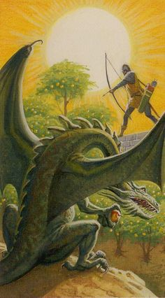 XIX. The Sun - Dragons Tarot by Severino Baraldi