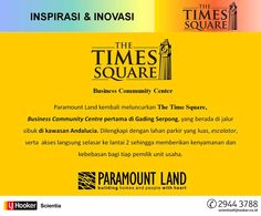 The Times Square - Business Community Centre_Inspirasi & Inovasi