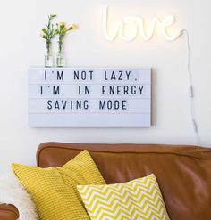 """The coolest """"love"""" neon lamp and lightbox - both from MARK&WALDORF"""