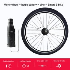 buy Wireless Ebike Conversion Kit front wheel eekit with battery at bike shop near me, most easy install ebike kit Dirt Bike Shop, E Bike Kit, Mountain Bike Parts, Electric Bike Kits, Giant Bikes, Cheap Bikes, Touring Bicycles, Bicycle Store