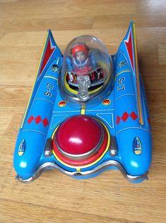 VERY RARE ORIGINAL JAPANESE TINPLATE BATTERY S-17 SPACE ROBOT SCOUT BY YANOMAN   eBay