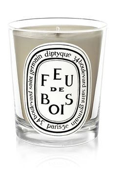 Diptyque Paris Feu de Bois Candle ($60.00) - This vegetable/paraffin wax mix candle evokes the smell of burning wood. Made in France.