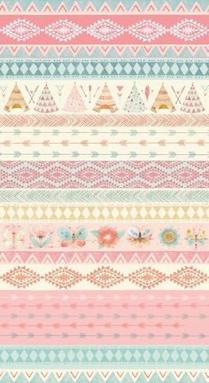 Modern Fabric-Teepee and Flower Cotton Fabric-Modern Quilting Fabric-Teepees-Arrows-Flowers-Butterflies-Blue-Brown-Pink To purchase more yardage you Wallpaper Iphone Cute, Flower Wallpaper, Wallpaper Backgrounds, Dream Catcher Pink, Dream Catchers, Bd Design, Pretty Wallpapers, Modern Fabric, Pattern Paper