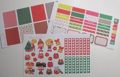 Christmas Girls MATTE Sticker Kit for your Erin by Plannergirls
