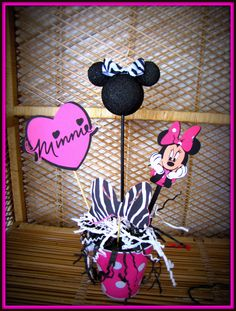 Minnie Mouse Zebra Birthday Decoration by eryacah on Etsy, $10.00