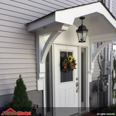 Over front door ideas Front Door Overhang, Front Door Awning, Front Door Entryway, Entry Doors, Front Doors, Front Door Canopy, Side Door, Roof Overhang, Front Stoop