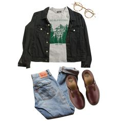 Untitled #218 by tater-titties on Polyvore featuring H&M, American Apparel, Levi's and Dr. Martens
