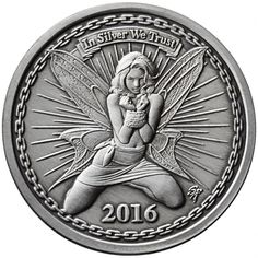 1 oz Antique Silverbug Alyx the Fairy Silver Rounds from JM Bullion™ Silver Investing, Custom Coins, Hobo Nickel, Coin Art, Metal Clay Jewelry, Rare Coins, Silver Rounds, Coin Collecting, Gold Coins
