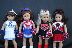 We have spirit, yes we do! And Dolly has spirit, too! Now she can show her school and team pride with our Oh Mickey Cheerleading uniform for Dolly! This uniform is sure to please any little girl. With lots of ways to embellish and loads of tips for making it affordable, this is a pattern you will use over and over. As an added bonus, 3 appliques are included in the pattern!  The Oh Mickey is a drop waist, one piece, cheerleading jumper. It is sleeveless and designed to hit just above the…