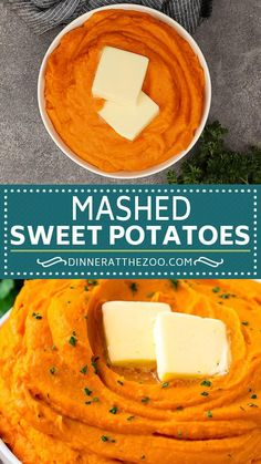 These mashed sweet potatoes are ultra creamy and are the perfect accompaniment to chicken, meats and fish. You can flavor your mashed sweet potatoes in multiple ways and I'm providing instructions to make multiple flavor variations. Vegetable Side Dishes, Vegetable Recipes, Thanksgiving Recipes, Holiday Recipes, Baked Shrimp Scampi, Hallowen Food, Healthy Snacks, Healthy Recipes, Mashed Sweet Potatoes