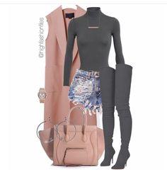 A fashion look from March 2017 by highfashionfiles featuring Alexander Wang, Alaïa, Balmain, Audemars Piguet, Monique Péan and Chanel Lila Outfits, Mode Outfits, Classy Outfits, Stylish Outfits, Fashion Outfits, Womens Fashion, Fashion Trends, Skirt Outfits, Modest Fashion