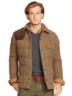 Glen Plaid Down Shirt Jacket - Polo Ralph Lauren Wool - RalphLauren.com
