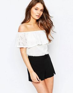 New Look Lace Off the Shoulder Top