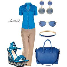 """Beige Blue"" by christa72 on Polyvore"